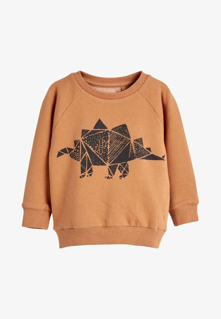Next - TAN STEGOSAURUS - Sweatshirt - beige