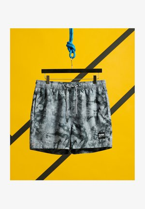 Swimming shorts - grey tie dye