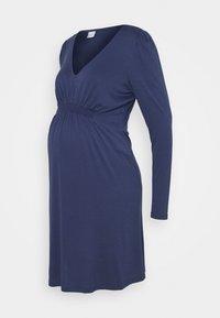 MAMALICIOUS - MLANALIA DRESS - Žerzejové šaty - estate blue - 0