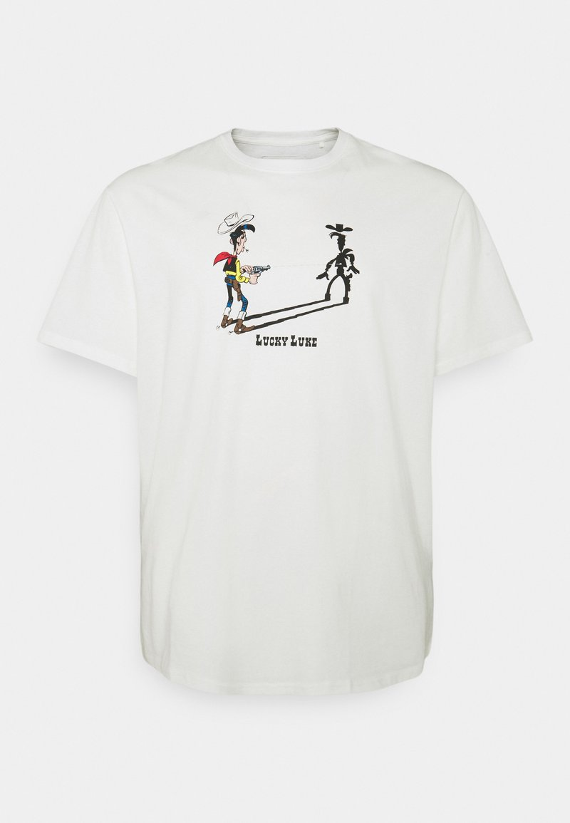 Only & Sons - ONSLUCKY LUKE LIFE REG TEE - Print T-shirt - star white