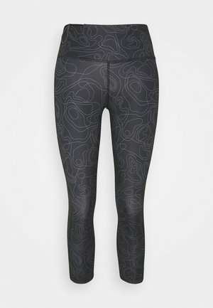 RUN FAST CROP - Leggings - black