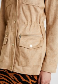 River Island - ARMY JACKET - Faux leather jacket - sand - 5