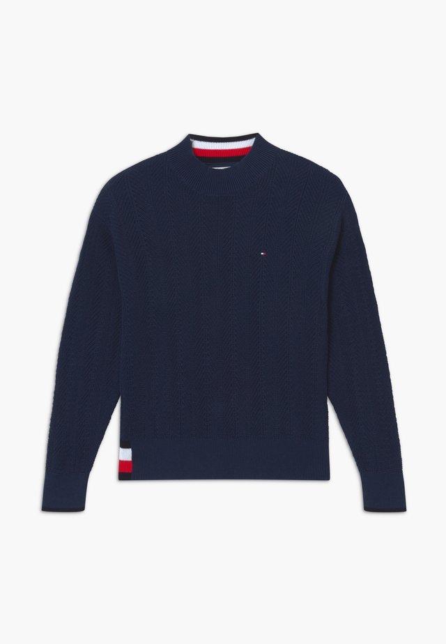 GLOBAL STRIPE  - Sweter - blue