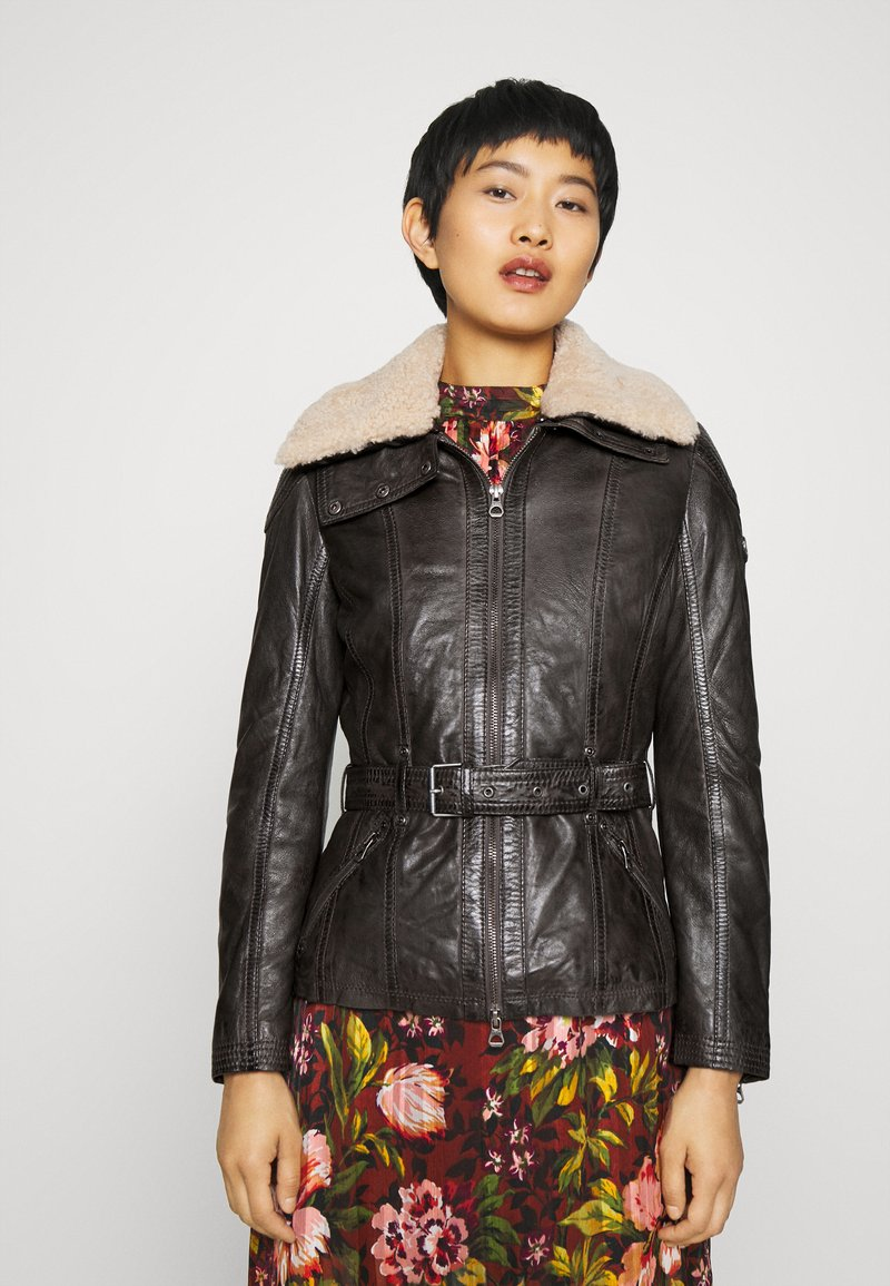 Gipsy - CYLIA LAMAS - Leather jacket - antra