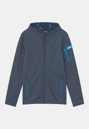 FIX HOOD UNISEX - Fleece jacket - blue/light blue