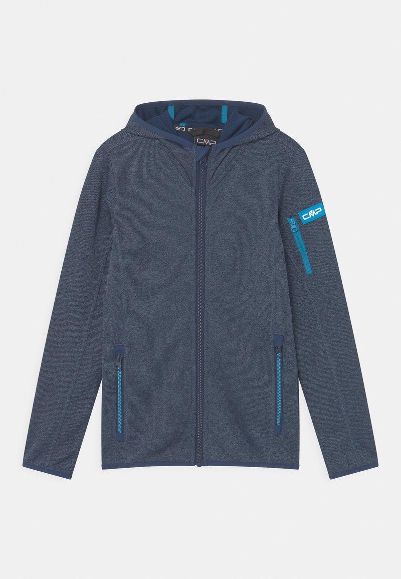 CMP - FIX HOOD UNISEX - Fleece jacket - blue/light blue