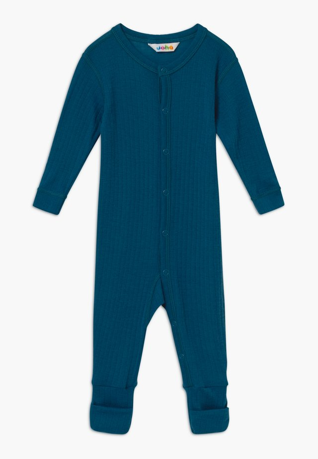 NIGHTSUIT FOOT BASIC 2IN1 - Pyjamas - petrol blue