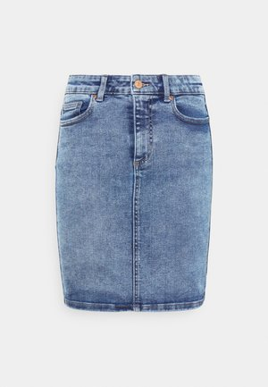 PCLILI SKIRT - Mini skirt - light blue denim