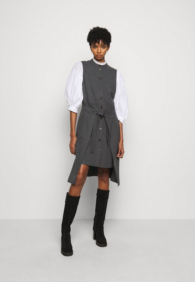 Shirt dress - charcoal black