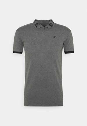 OLD ENGLISH INSET - Polo shirt - dark grey marl