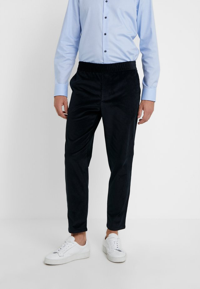 TERRY TROUSER - Trousers - dark navy