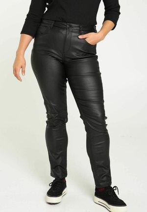 ENDUIT LOUISE  - Pantalón de cuero - black