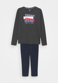 Tommy Hilfiger - GRAPHIC PRINT SET - Pyjamaser - grey - 0