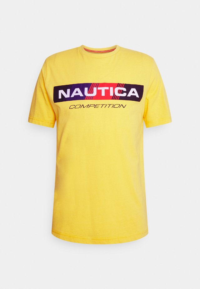 POLACCA - T-shirt con stampa - yellow
