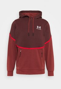 Under Armour - RIVAL - Hættetrøjer - cinna red - 0