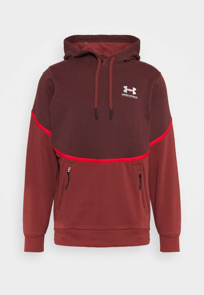 Under Armour - RIVAL - Hættetrøjer - cinna red