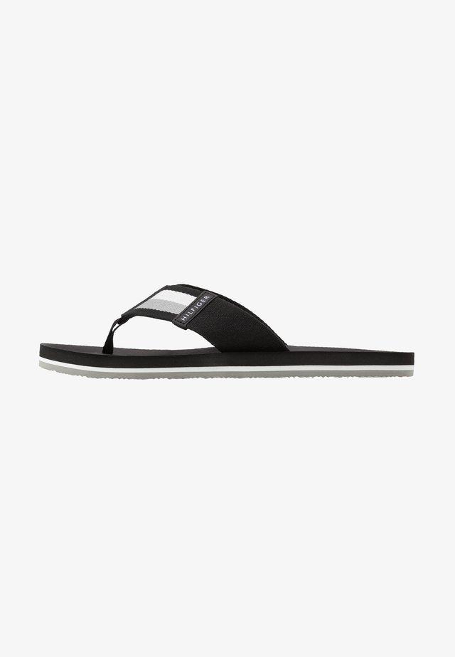 SPORTY CORPORATE BEACH  - T-bar sandals - black
