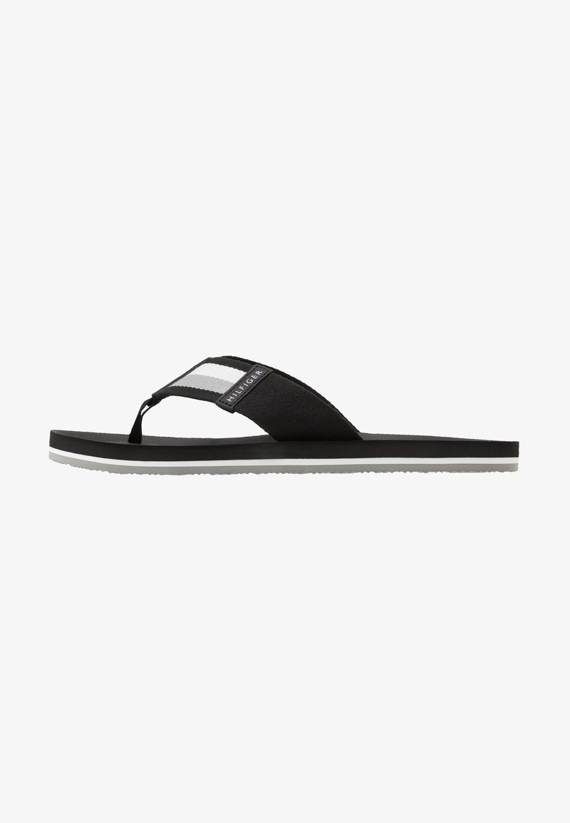 Tommy Hilfiger - SPORTY CORPORATE BEACH  - T-bar sandals - black