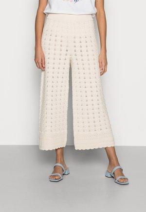 PANTS CROCHET - Trousers - white stone