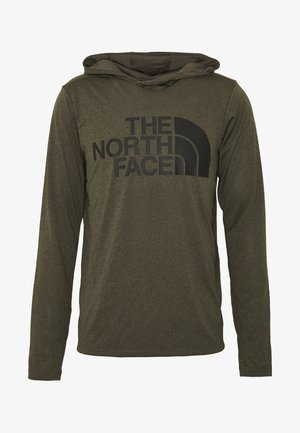 BIG LOGO - Sports shirt - new taupe green heather