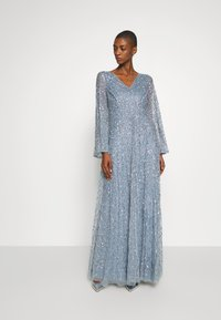 Maya Deluxe - LONG BELL SLEEVE ALL OVER DRESS WITH CUT OUT BACK - Gallakjole - dusty blue - 2