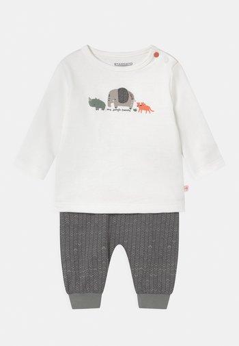 SET - Trousers - off-white/khaki