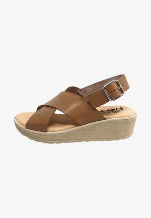 Sandalias de cuña - gris