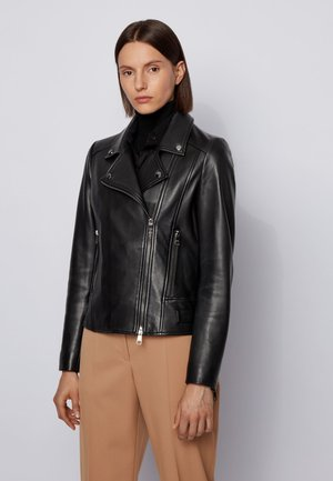 SAJUANA - Leather jacket - black