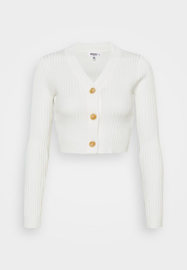 HORN BUTTON CROPPED - Neuletakki - cream