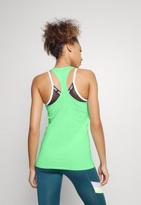 Nike Performance - TANK ALL OVER  - Funktionstrøjer - green glow/white - 2