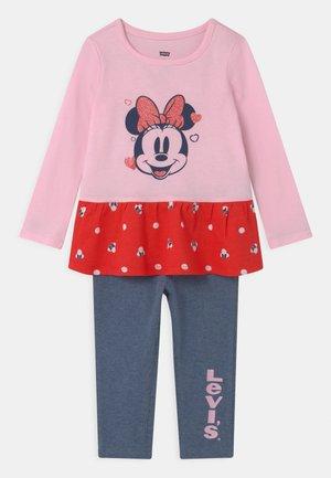 MICKEY MOUSE PEPLUM SET - Leggings - Trousers - pink lady