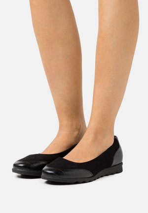WIDE FIT COMFORT FLAT SHOE - Ballerines - black