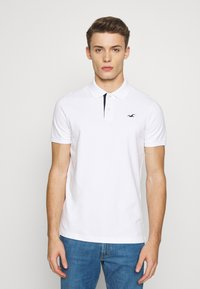 Hollister Co. - HERITAGE SOLID NEUTRALS - Polo - white - 0