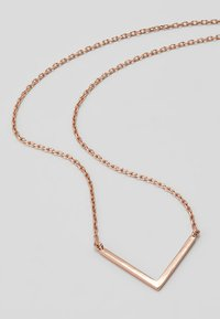 Orelia - CLEAN V NECKLACE - Náhrdelník - rose gold-coloured - 4