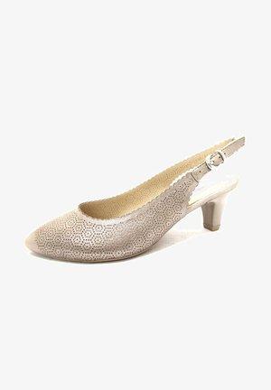 Ankle strap ballet pumps - taupesuemet
