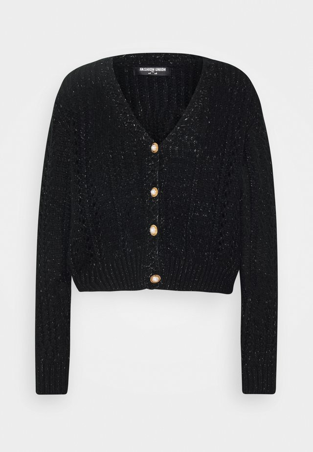 FANCY - Strikjakke /Cardigans - black