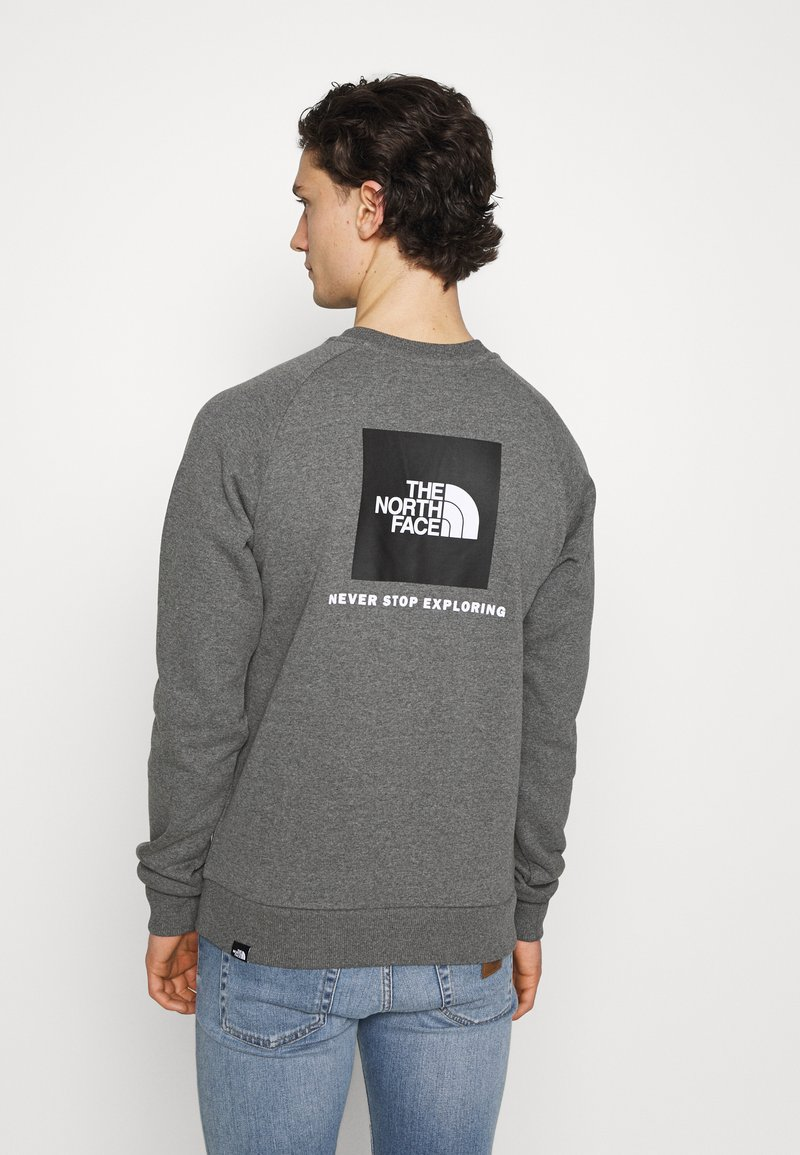 The North Face - RAGLAN REDBOX CREW NEW  - Sweatshirt - medium grey heather