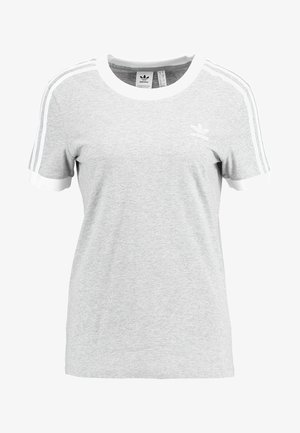 ADICOLOR 3 STRIPES TEE - Camiseta estampada - medium grey heather