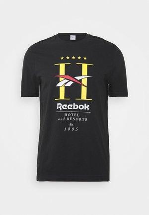 HOTEL TEE - T-shirt imprimé - black