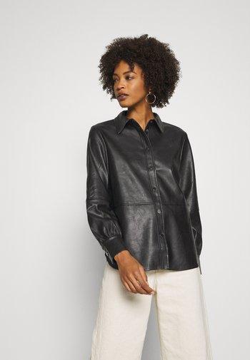 FEDA - Button-down blouse - black