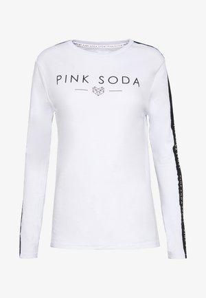 ROWE TAPE TEE  - Bluzka z długim rękawem - white