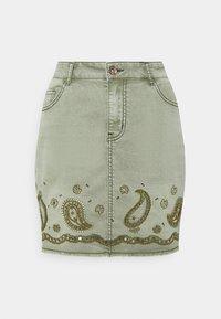 Desigual - BILLI JEANS - Denim skirt - green - 0