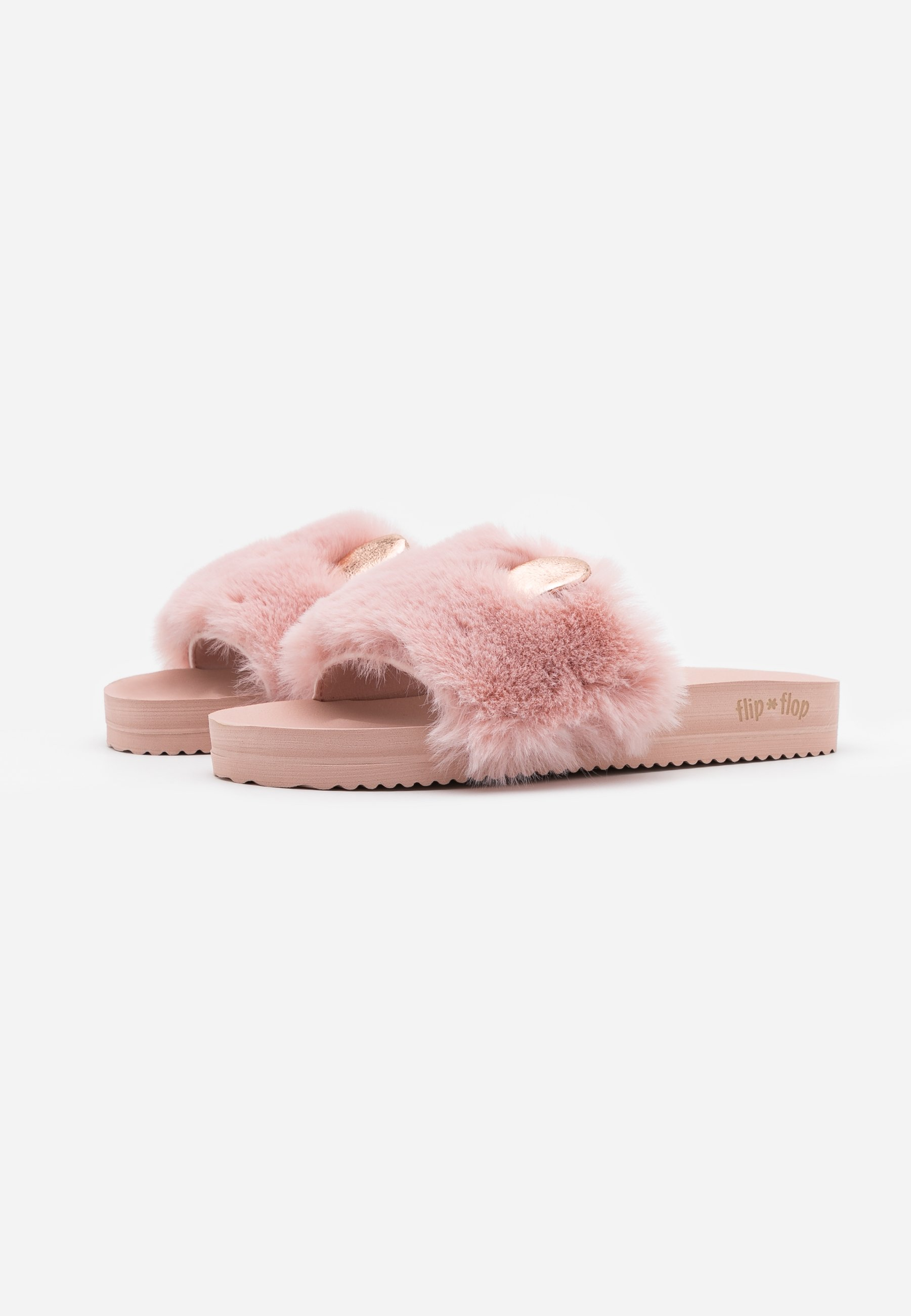 POOL MOUSE METALLIC Chaussons dirty rose