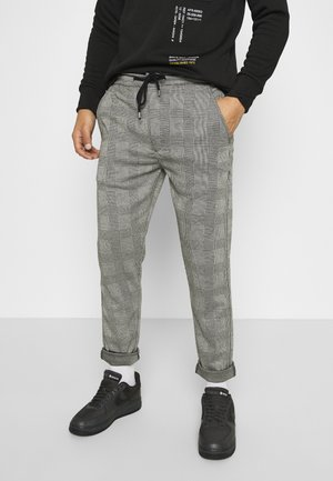 MORGAN - Trousers - black/white