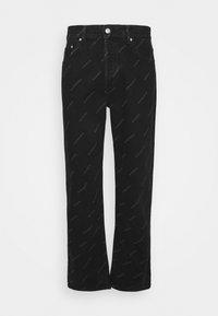 DIAGONAL - Straight leg jeans - black denim