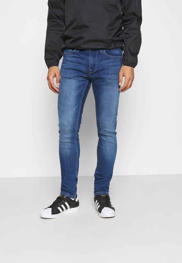 Pepe Jeans FINSBURY - Jeansy Slim Fit - blue denim/niebieski denim Odzież Męska NYFE