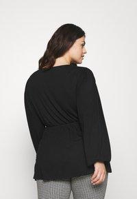 Simply Be - BALLOON SLEEVE  - Long sleeved top - black - 2