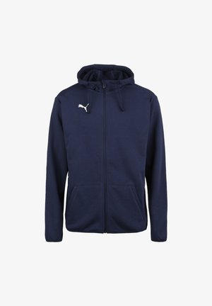 LIGA CASUALS - Zip-up hoodie - peacoat / puma white