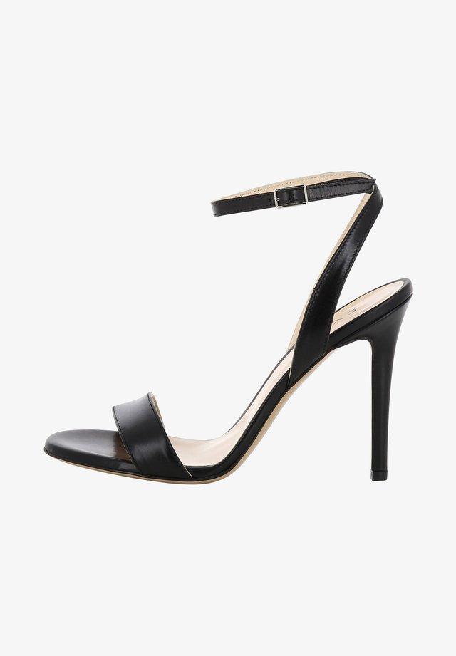 Højhælede sandaletter / Højhælede sandaler - noir
