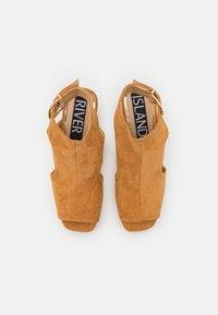 River Island - Platform sandals - brown light - 5
